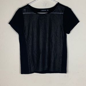 Trouve- Black Tee w/ Mesh Front size xsmall
